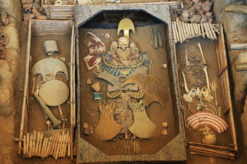 Sipan坟茔的阁下 免版税库存照片