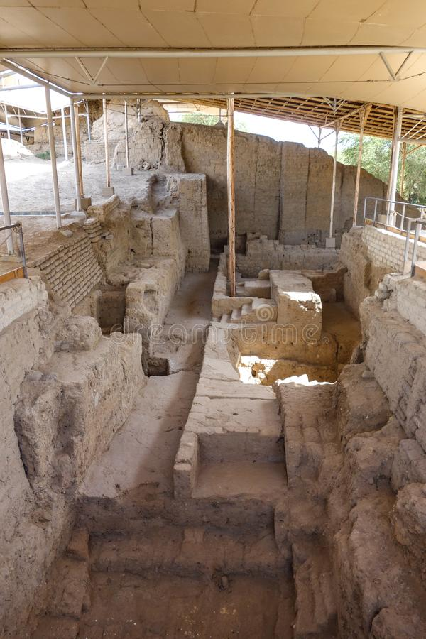 Sipan的阁下的皇家坟茔 奇克拉约,秘鲁 免版税库存照片