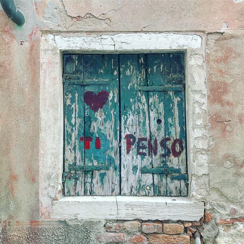 Sipenso, ett förälskelsemeddelande arkivbild