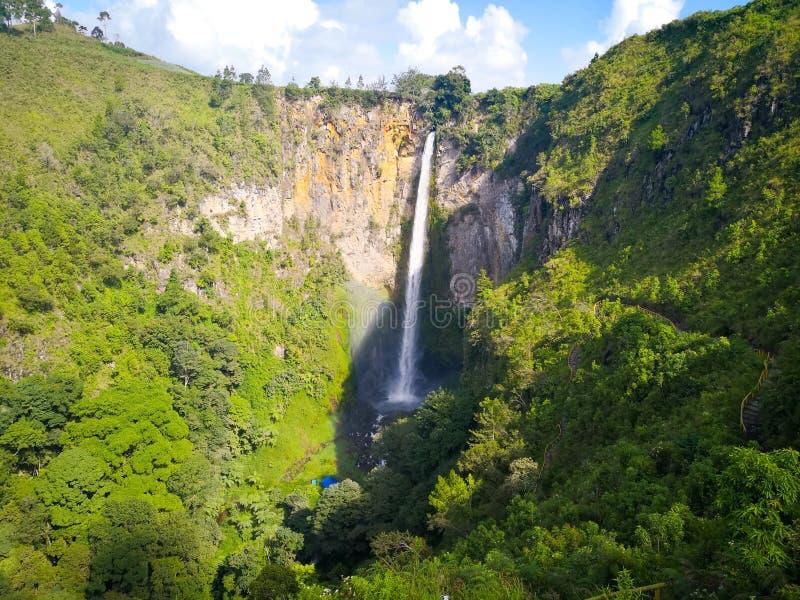 Sipisopiso-Wasserfall stockbild