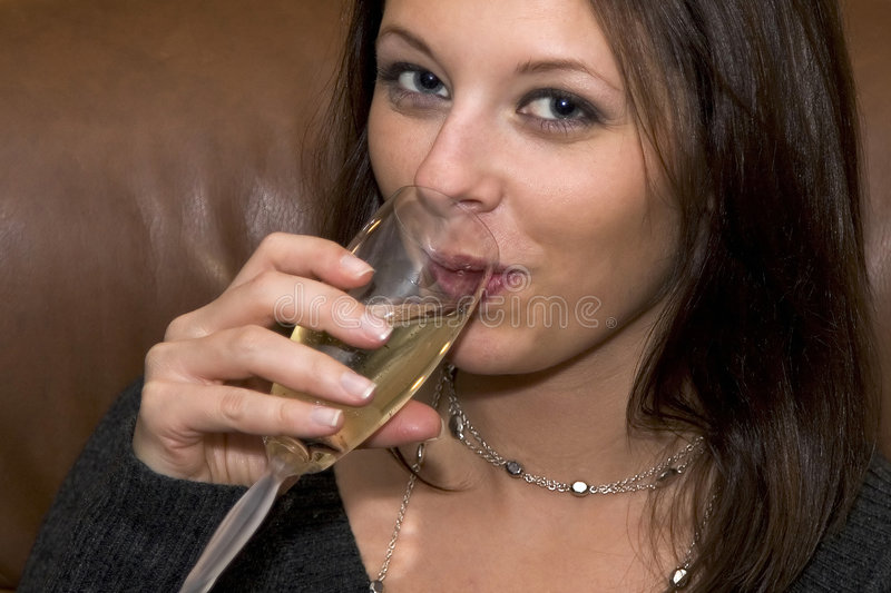 Sipping Champagne stock photography