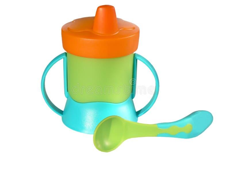 sippy κουτάλι μωρών στοκ εικόνα