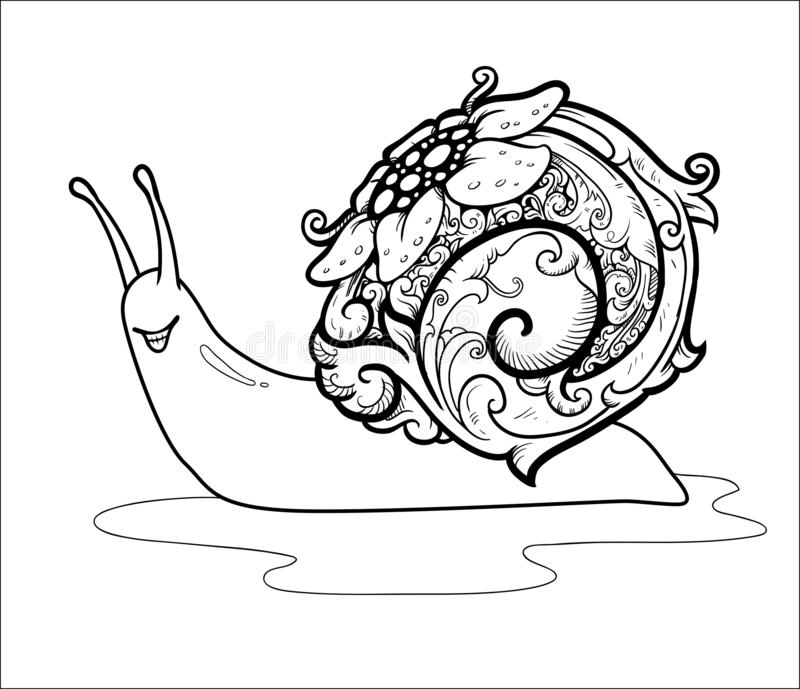 SIPUT-ORNAMENT VECTORselok AWARAWAR royalty-vrije illustratie