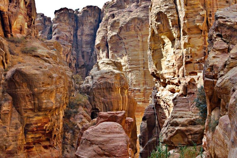 siq дороги petra Иордана каньона стоковое изображение rf