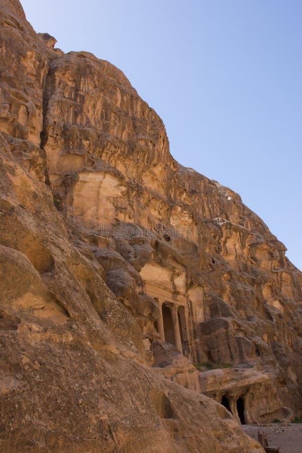 Siq-Al Barid, wenig PETRA in einem Abstand stockfoto