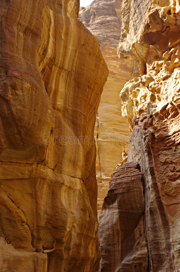 The Siq Road canyon, Petra, Jordan. stock image
