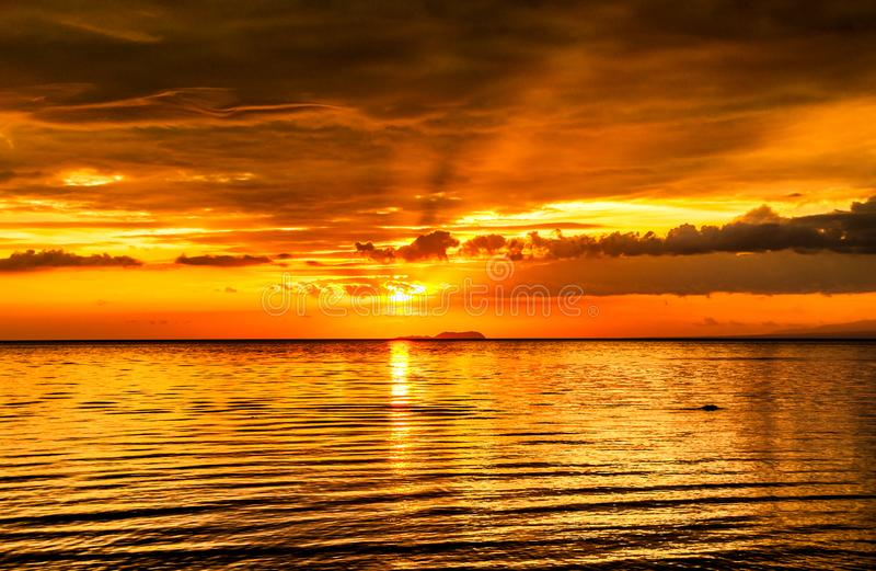Absolutely mind blowing sunsets in the Philippines. royalty free stock photos