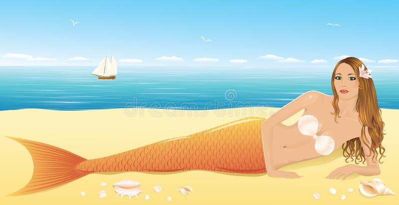 Sirène. illustration de vecteur