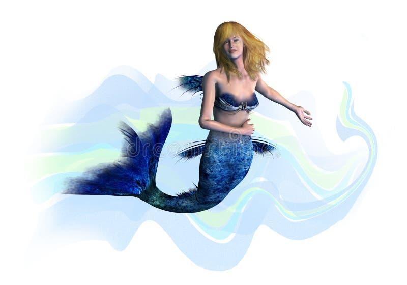 Sirène blonde - comprend le chemin de découpage illustration stock