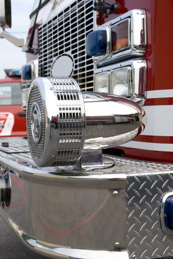 Sirène de camion de pompiers images stock