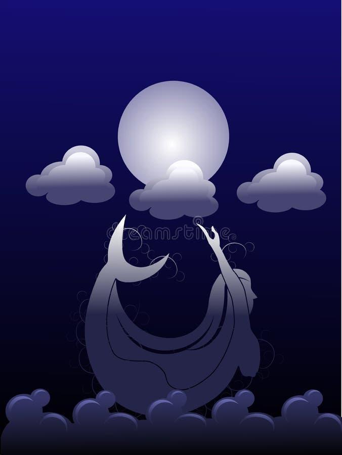 Sirène de nuit photos stock