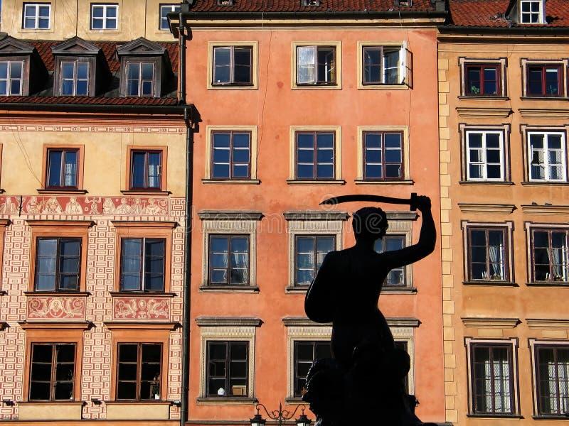 Sirène de Varsovie (vieille place) photos libres de droits