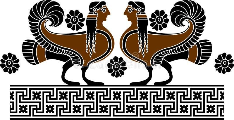 Sirène ornementale illustration de vecteur