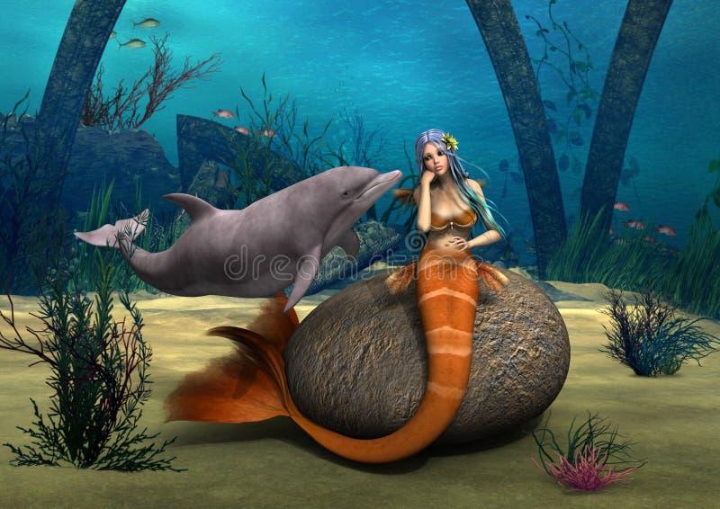 Sirène triste illustration de vecteur