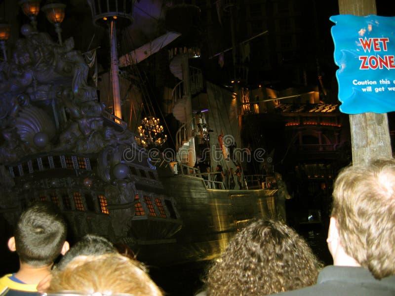 Sirènes d'exposition d'île de trésor, Las Vegas, Nevada, Etats-Unis image libre de droits