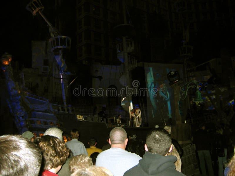 Sirènes d'exposition d'île de trésor, Las Vegas, Nevada, Etats-Unis photos libres de droits