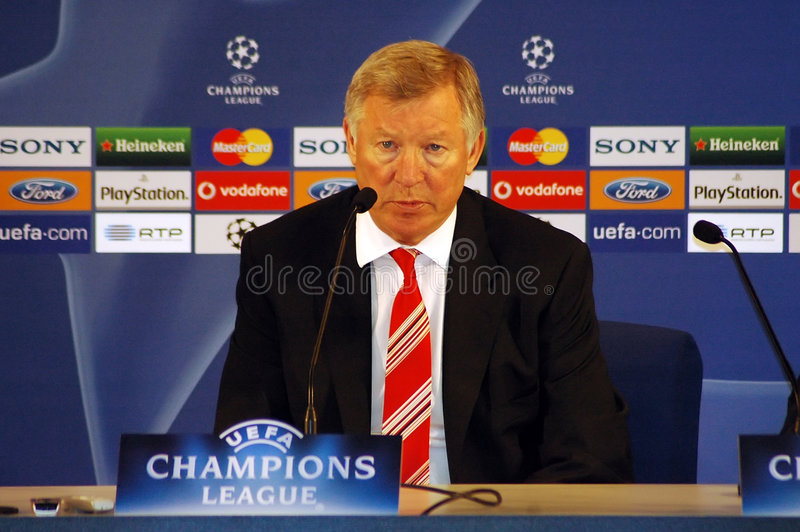 Sir Alex Ferguson fotografia stock