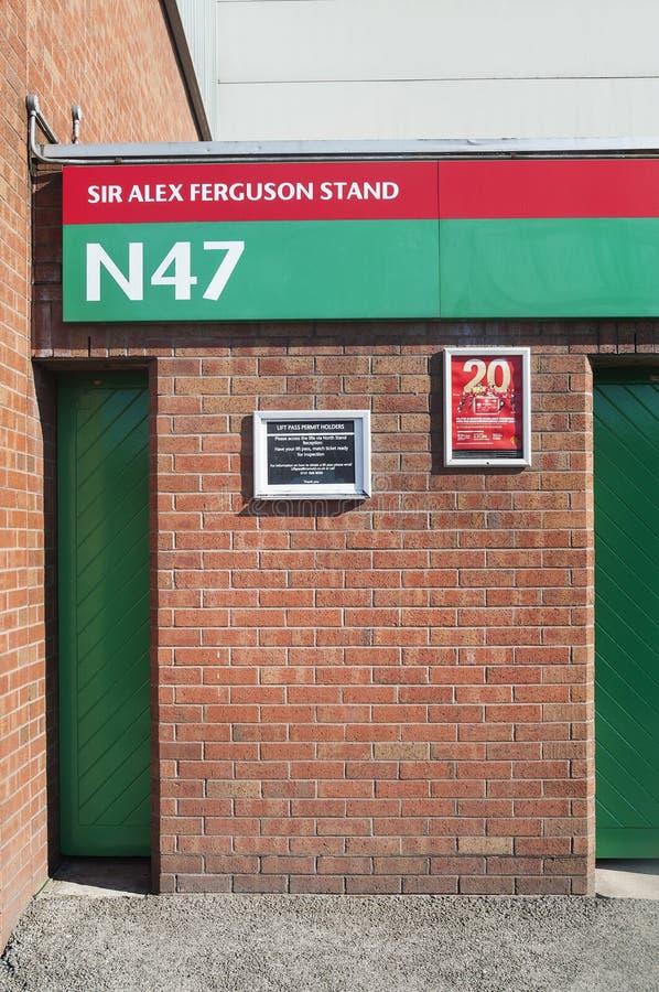 Sir Alex Ferguson Stand, Oude Trafford, Manchester royalty-vrije stock afbeeldingen