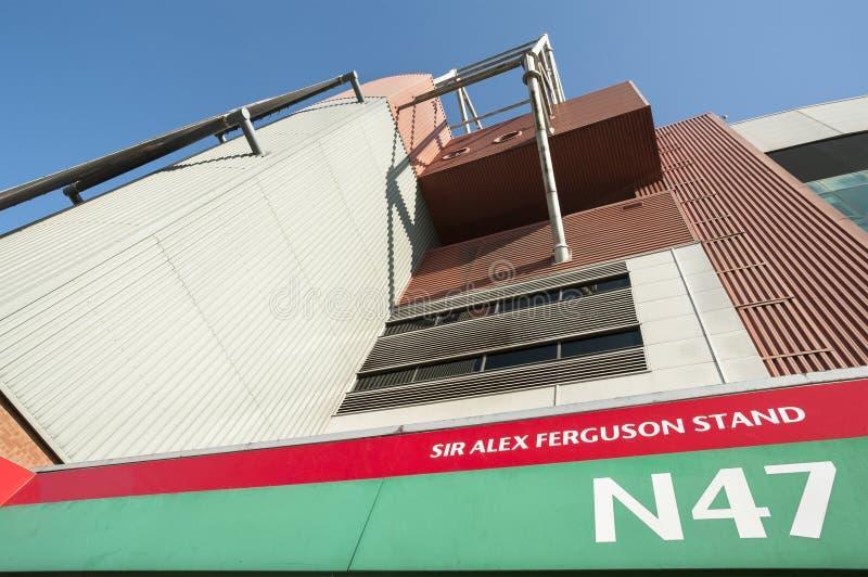 Sir Alex Ferguson Stand, vecchio Trafford, Manchester fotografia stock libera da diritti