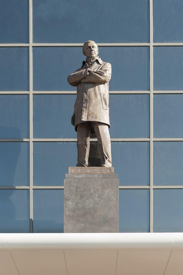Sir Alex Ferguson-standbeeld, Oude Trafford, Manchester royalty-vrije stock fotografie