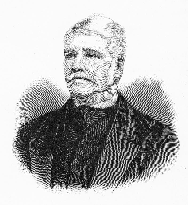 Sir Arthur Edward Kennedy ilustracja wektor