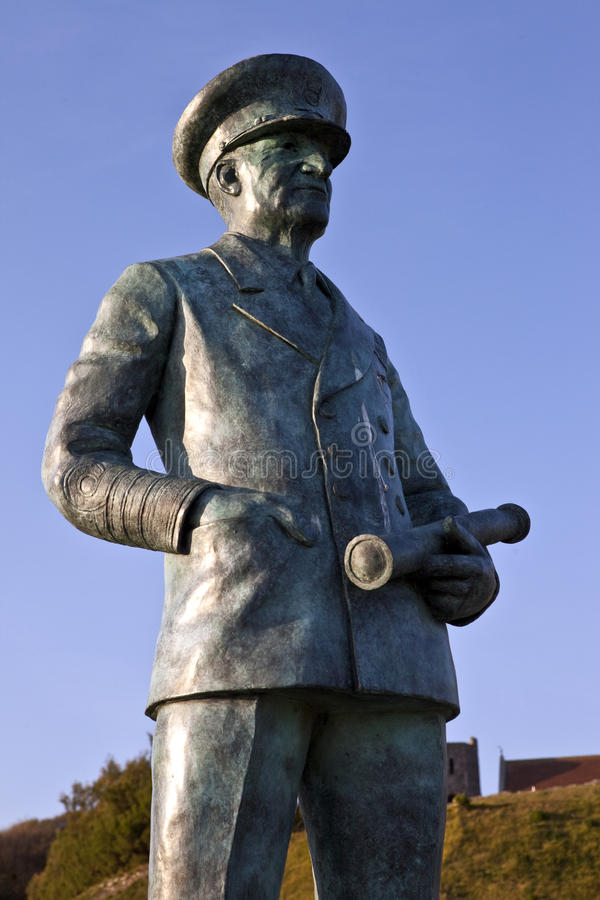 Sir Bertram Ramsay Statue at Dover Castle royalty free stock image