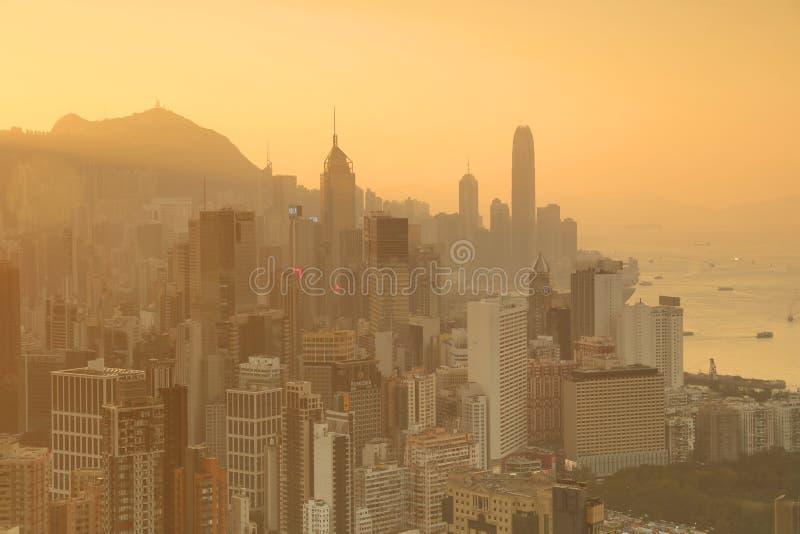 Sir Cecils przejażdżka, widok HK zdjęcie stock