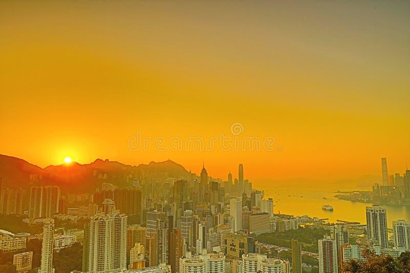 Sir Cecils przejażdżka, widok HK zdjęcia royalty free