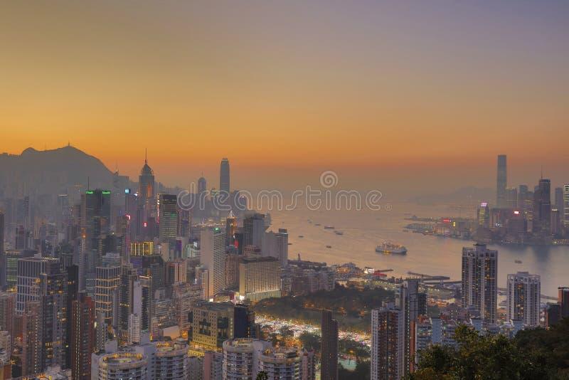 Sir Cecils przejażdżka, widok HK 2017 fotografia stock
