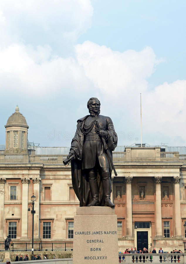 Sir Charles James Napier staty arkivfoto