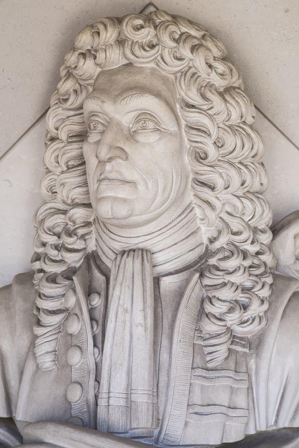 Sir Christopher Wren Sculpture in Londen royalty-vrije stock fotografie