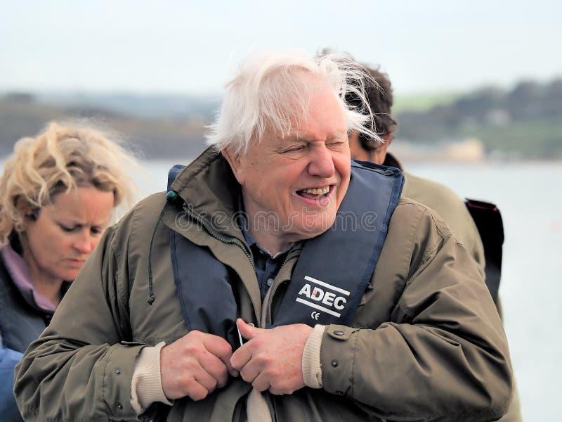 Sir David Attenborough Z miejscowego Lyme Regis palaczami obraz royalty free
