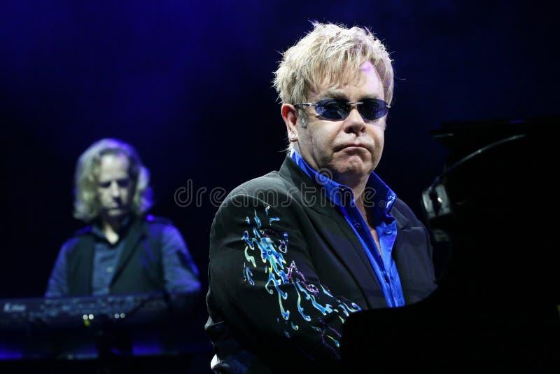 Sir Elton John. Live concert in Minsk, Belarus on June, 2010 stock photos