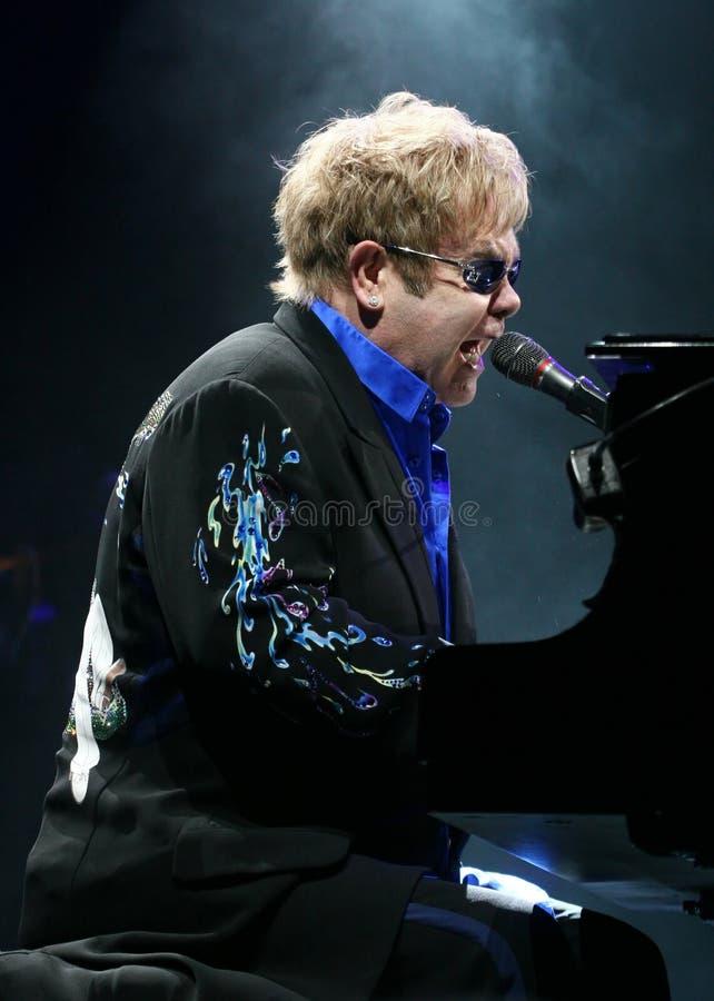 Sir Elton John. Live concert in Minsk, Belarus on June, 2010 royalty free stock images