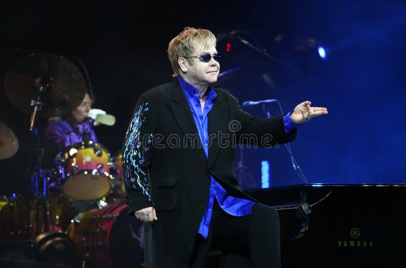 Sir Elton John. Live concert in Minsk, Belarus on June, 2010 royalty free stock image