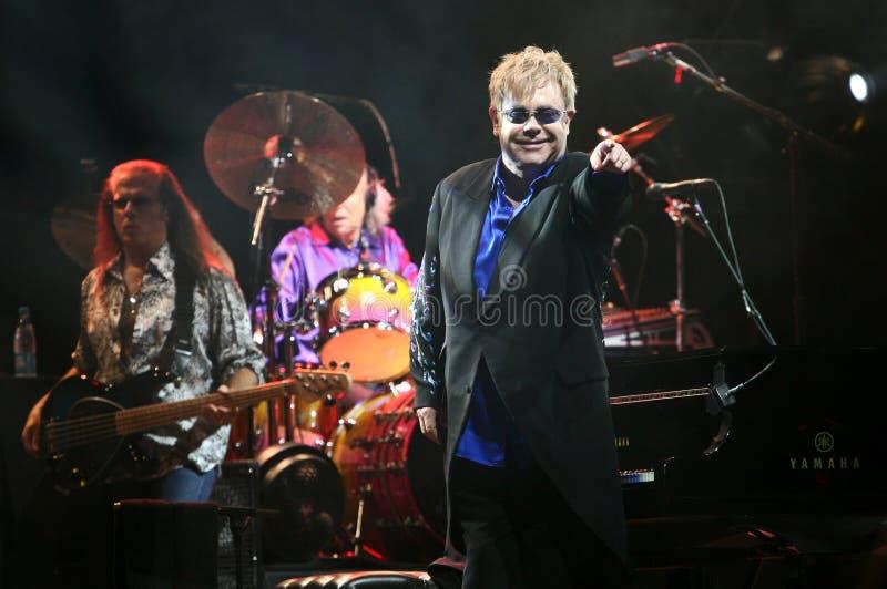 Sir Elton John. Live concert in Minsk, Belarus on June, 2010 royalty free stock photography