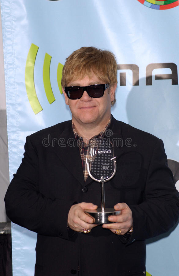 Sir Elton John royalty-vrije stock afbeelding