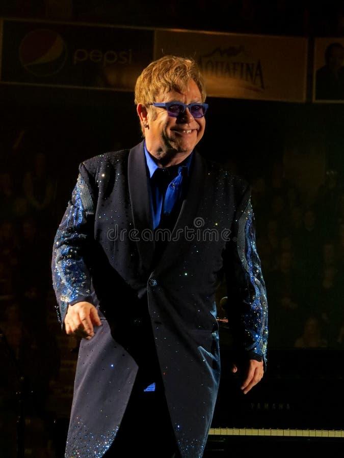 Sir Elton John Na scenie obrazy royalty free