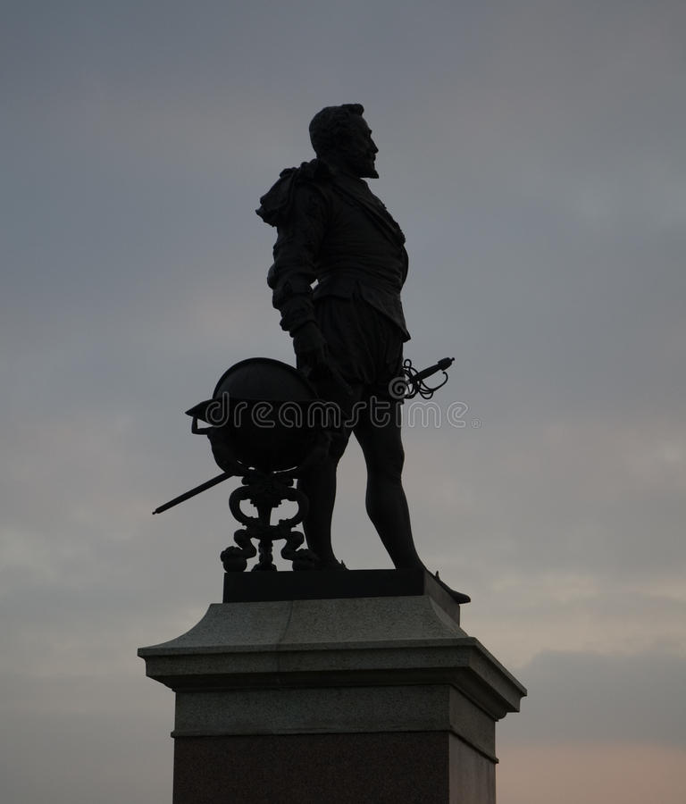 Sir Francis Drake, Plymouth zdjęcia royalty free