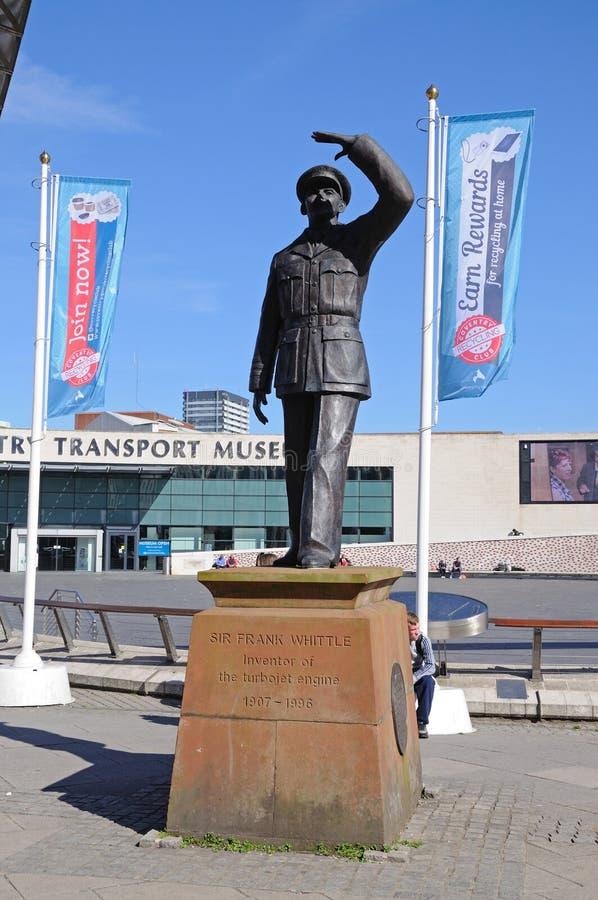 Sir Frank Struga statuę, Coventry obraz stock