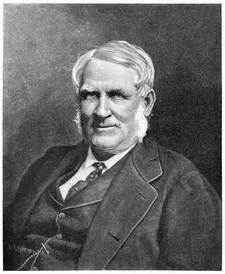 Sir George Ferguson Bowen. Engraving of Sir George Ferguson Bowen, GCMG vector illustration