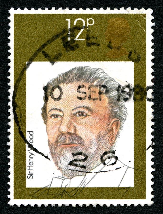 Sir Henry Drewniany UK znaczek pocztowy obrazy stock
