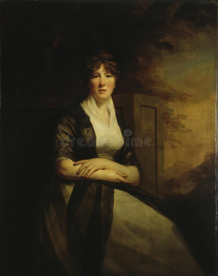 Sir Henry Raeburn (1756–1823): Lady Anne Torphicen royalty free stock image