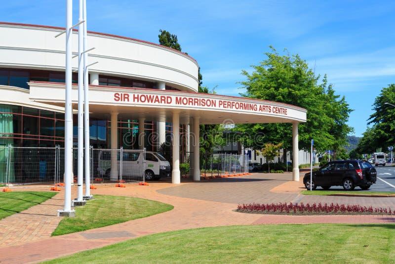 Sir Howard Morrison Performing Arts Centre i Rotorua, Nya Zeeland royaltyfri foto