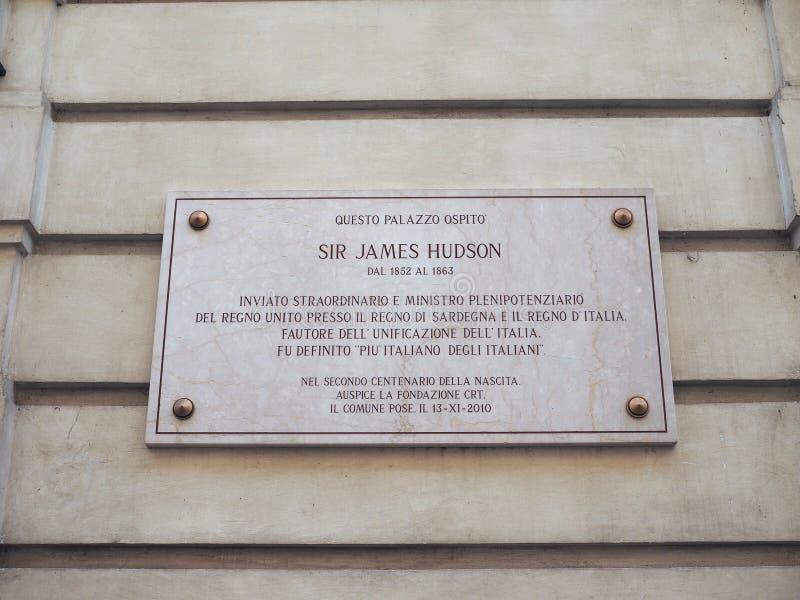 Sir James Hudson-huis in Turijn royalty-vrije stock afbeelding