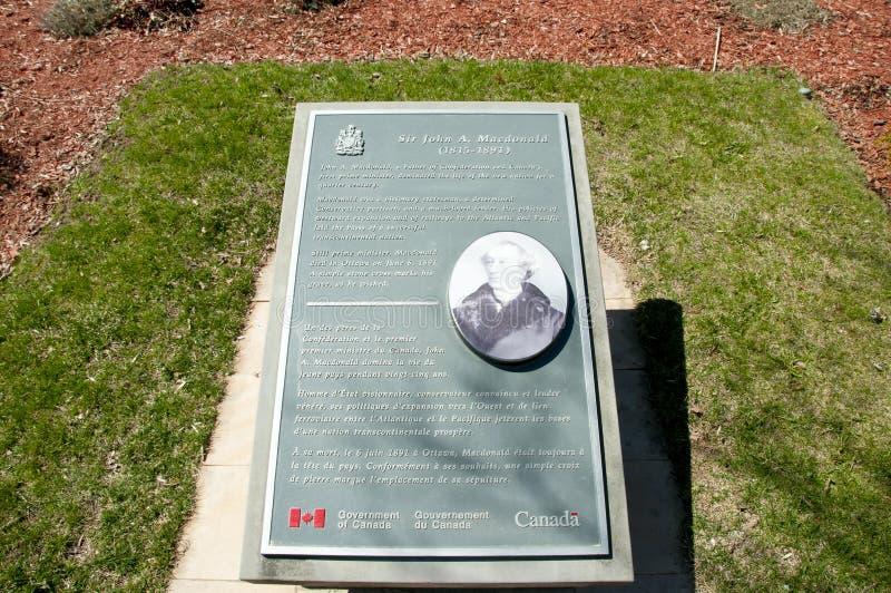 Sir John A Macdonald Grave in Cataraqui-Begraafplaats - Kingston - Canada royalty-vrije stock foto