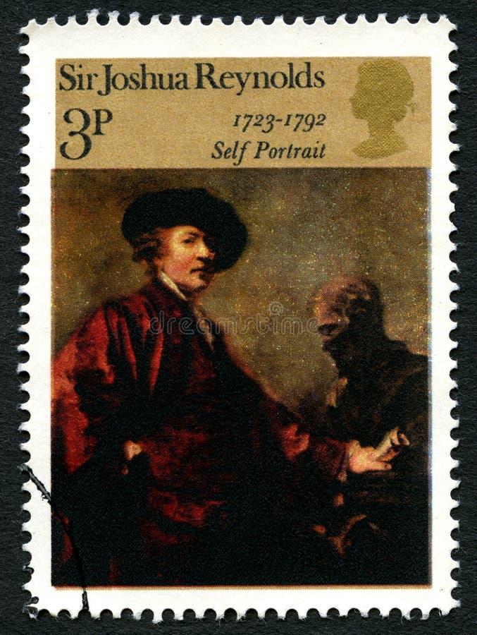 Sir Joshua Reynolds UK znaczek pocztowy zdjęcia stock