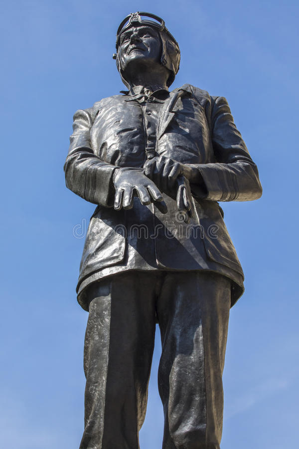Sir Keith Park Statue in Londen royalty-vrije stock foto