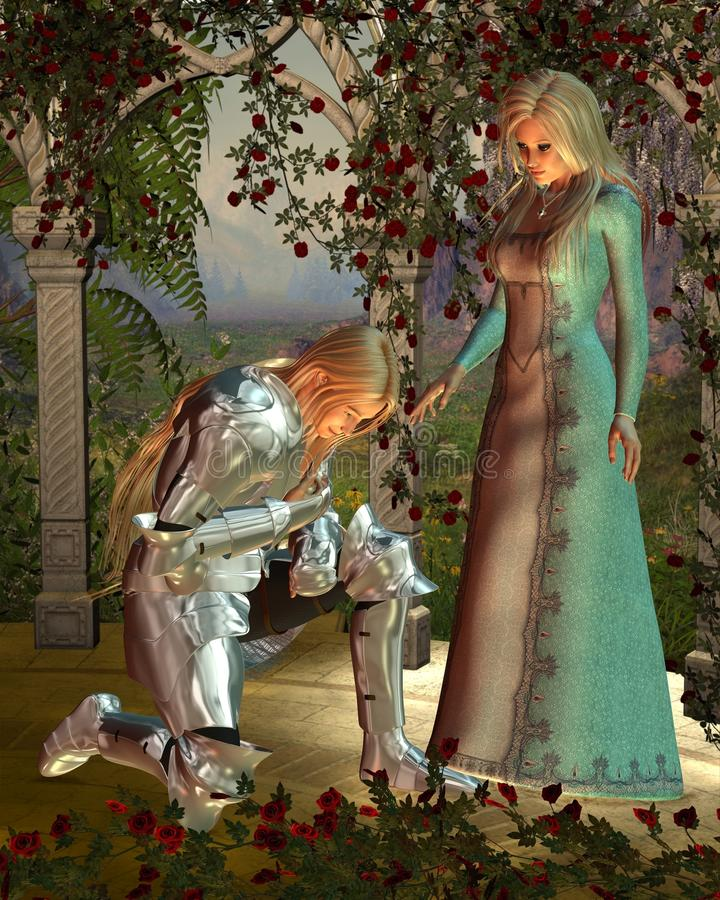 Sir Launcelot y reina Guinevere libre illustration