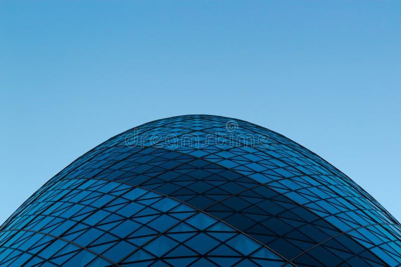 Sir Norman Foster Building The Gherkin Beeld van onderaan royalty-vrije stock afbeeldingen